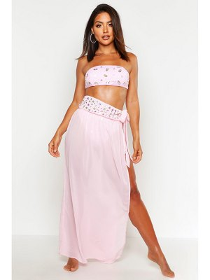 Boohoo Jewelled Maxi Beach Sarong