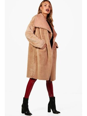 Boohoo Boutique Reversible Faux Fur Bonded Jacket