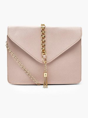 Boohoo Crosshatch Chain Tassel Cross Body