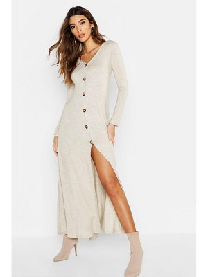 Boohoo Knitted Button Detail Maxi Dress