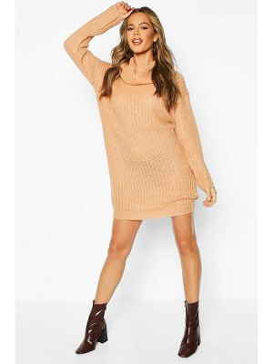 Boohoo Knitted Cowl Neck sweater Dress