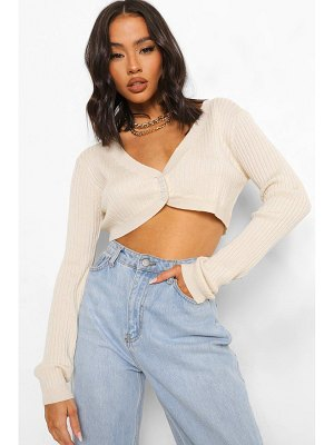 Boohoo Knitted Cropped Cardigan