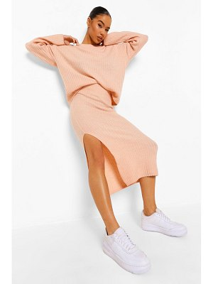 Boohoo Knitted Maxi Skirt Co-Ord