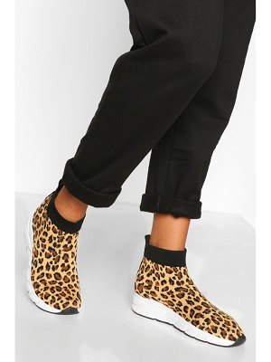 Boohoo Knitted Sock Sneakers