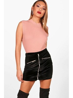 Boohoo Knitted Turtle Neck Top