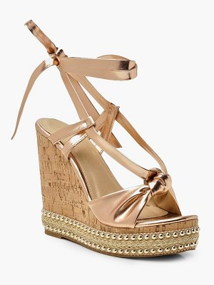 Boohoo Knot Front Wrap Wedges