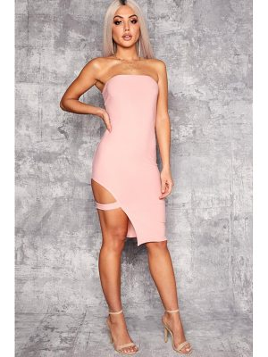 BOOHOO Kyra Bandeau Cut Out Side Thigh Detail Midi Dress