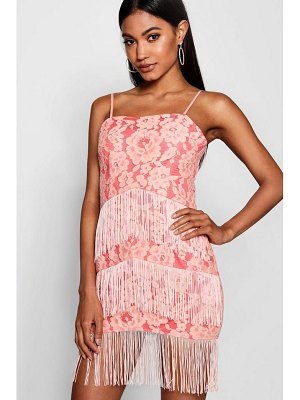 Boohoo Lace and Tassel Bodycon Dress