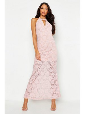 Boohoo Lace Choker Plunge Maxi Dress