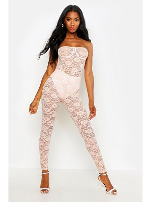 Boohoo Lace Cupped Bandeau Jumpsuit