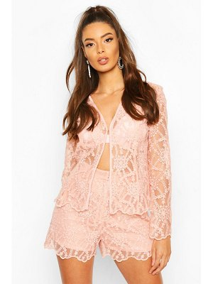 Boohoo Occasion Lace Shorts