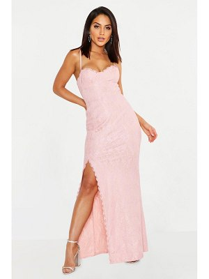 Boohoo Lace Sweetheart Neck Maxi Dress