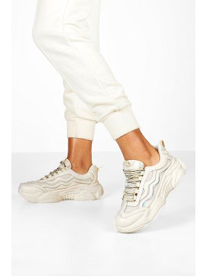 Boohoo Lace Up Contrast Chunky Sneakers