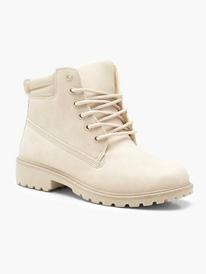 Boohoo Lace Up Hiker Boots