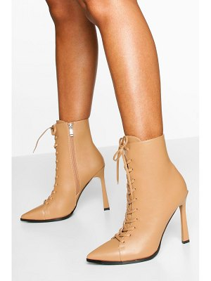 Boohoo Lace Up Shoe Boots