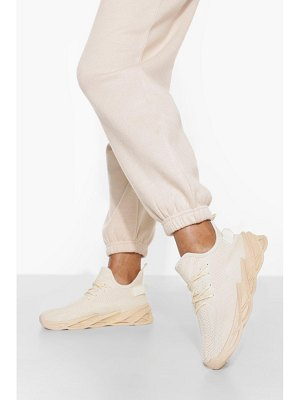 Boohoo Lace Up Sporty Sock Trainer