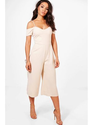 Boohoo Off The Shoulder Culotte Jumpsuit