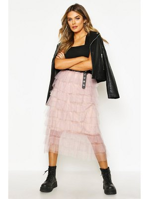 Boohoo Layer Tulle Midi Skirt
