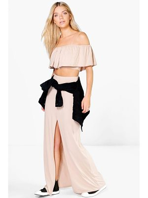 BOOHOO Layla Ruffle Bandeau Top And Maxi Skirt Co-Ord
