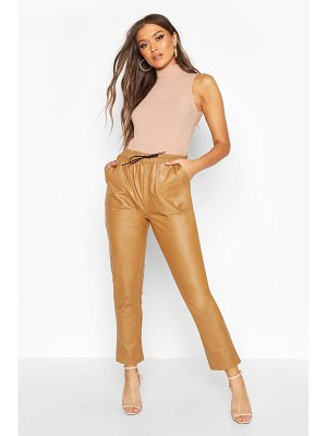 Boohoo Leather Look Luxe Jogger