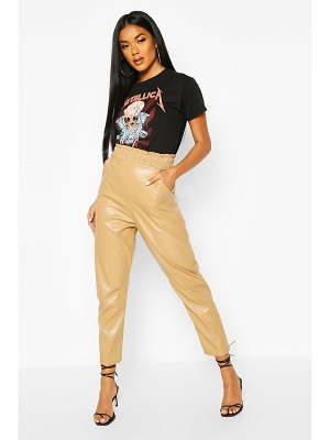 Boohoo Leather Look Slim Fit Jogger