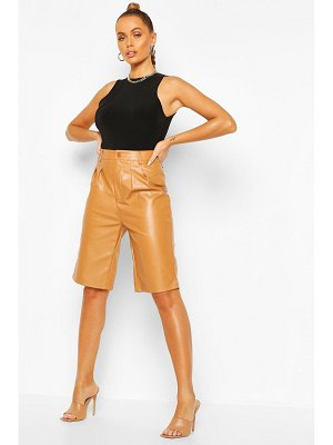 Boohoo Leather Look Tailored City Short