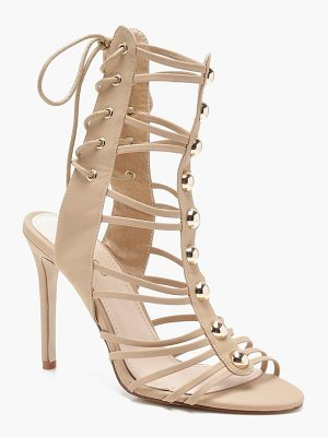 Boohoo Cage Lace Up Back Gladiator Heels