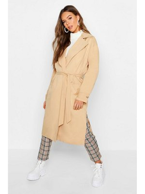 Boohoo Lined Belted Trench Coat