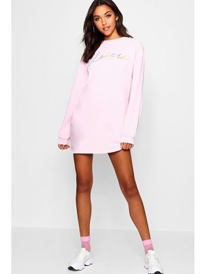 Boohoo Lover Rainbow Sweat Dress