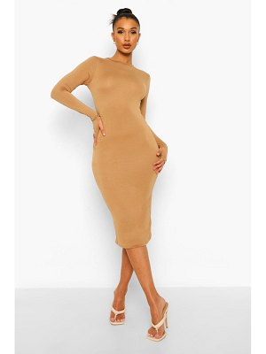 Boohoo Long Sleeve Midi Bodycon Dress