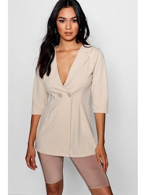 Boohoo Longer Line Collar Detail Blazer