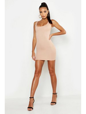 Boohoo Longline Square Neck Bodycon Dress