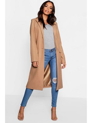 Boohoo Longline Tailored Wool Look Coat