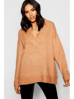Boohoo Loose Fit V-Neck Jumper