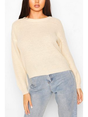 Boohoo Loose Rib Knit Sweater