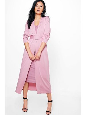 BOOHOO Lorna D Ring Duster & Plunge Dress Co-Ord
