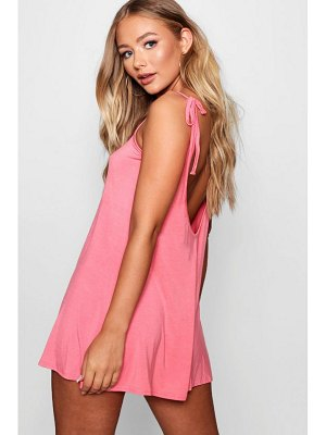 Boohoo Low Back Tie Shoulder Playsuit