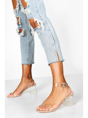 Boohoo Low Clear Block Heel 2 Parts