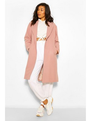 Boohoo Luxe Brushed Wool Look Tailored Coat