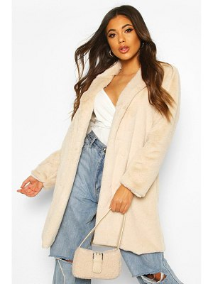 Boohoo Luxe Faux Fur Coat