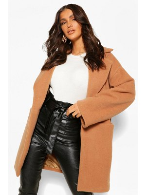 Boohoo Luxe Textured Wool Look Coat