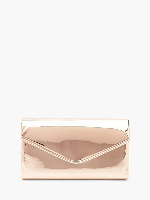 Boohoo Matallic Piping Envelope Clutch