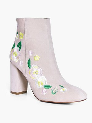Boohoo Matilda Embroidered Ankle Boot