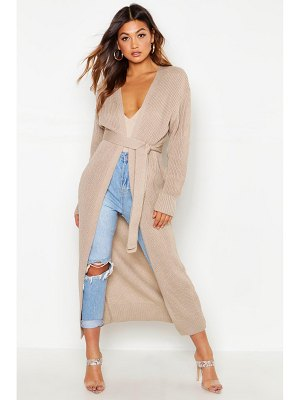 Boohoo Oversized Belted Knitted Cardigan