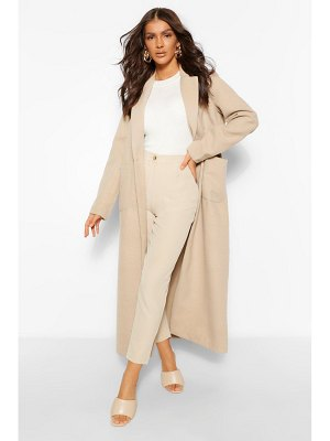 Boohoo Maxi Length Wool Look Coat