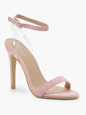 Boohoo Megan Clear Strap Barely There Heels