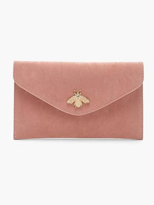 Boohoo Metal Bug Envelope Clutch And Chain