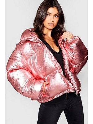 Boohoo Metallic Padded Jacket