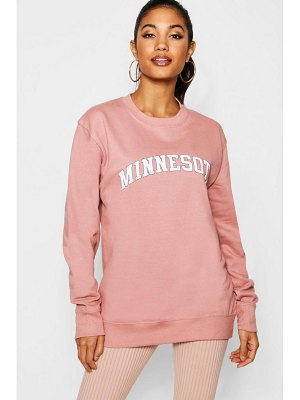 Boohoo Minnesota Slogan Sweat