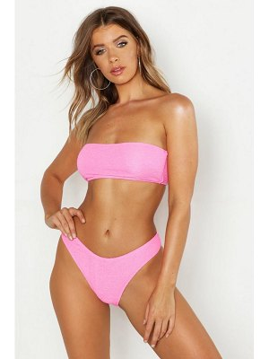 Boohoo Mix & Match Crinkle Bandeau Top